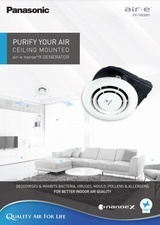 PURIFY YOUR AIR with Panasonic's CEILING MOUNTED air-e nanoe™X GENERATOR