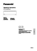 CS-RZ9 & 12RKR Operating Instructions